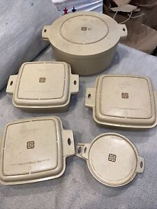 Vintage Littonware Microwave Cookware 10 Piece Matching Cook 'n Serve Set