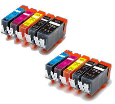 10P Quality Ink Cartridges w/ chip for Canon 220 221 MP620 MP640 MX860 MX870
