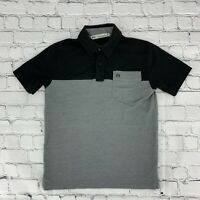 Travis Matthew Boys Kids Pullover Polo Shirt Size Small S Gray Short Sleeve