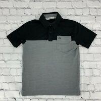 Travis Matthew Boys Kids Pullover Polo Shirt Size Small S Gray Short Sleeve