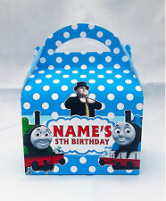 Thomas the Tank Engine Children's Personalised Party Boxes Favour 1ST CLASS POST