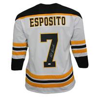 Phil Esposito Pro Style Autographed Hockey Jersey White (JSA COA)