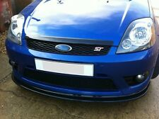 Ford Fiesta MK6 St Front splitter Diffuser Valance Lip Sport Gloss Black