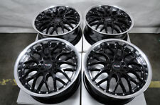 "17"" Wheels Honda Accord Civic Intrepid Neon Pilot Is300 Black Rims 5x100 5x114.3"