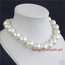 charm! 14mm, mer du sud, rond, blanc, coquillage perle, collier, 43cm