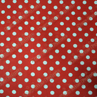 Polka Dot 1 inch  Poly Cotton Fabric 58 inches width sold by yard Red / White