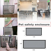 Quality Install Folding Safety Guard Mesh Net Pet Dog Cat Stair Door Fence Gate~
