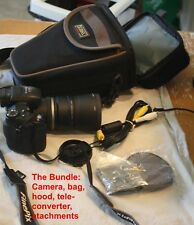 Fujifilm S5000 digital camera, 3.1 Mp, camera bag, tele-converter
