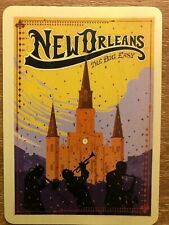 "A-52 Single of Swap Playing Card in Mint Cond. Travel Advert ""NEW ORLEANS """