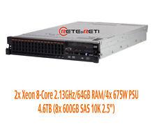 € 2200+IVA IBM System x3690 X5 2x Xeon 8-Core 2.13GHz/64GB/8x600GB SAS/4x675W
