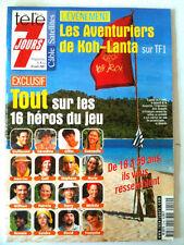 Télé 7 Jours 04/08/2001 Koh-Lanta / Duchovny/ Castaldi/ Uma Thurman/ Lopez/Carré