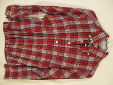 Gant Rugger 1973 Archive Mens Red Plaid Long Sleeve Cotton Hugger Shirt S