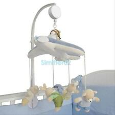 Home Baby Crib Mobile Bed Bell Toy Holder Wind-up Music Box White 8.5cm Gift hOt