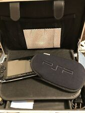 Sony PSP Bundle PlayStation Portable -Black.  3 Games Case Charger + Accessories