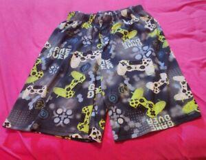 Boys Pajama Shorts Game Over Kids Size 2XL 16