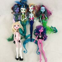 Monster High Lot x 6 Dolls Scarrier Reef Kjersti Bunny Clawdeen Posea Glowsome