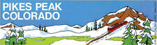 Pikes Peak, Colorado   Vintage-Style 1970's  Travel Decal-Bumper Sticker-Label