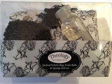 Theology Quilted Toiletry Bag 150ml Foam Bath & Sponge Gift Set
