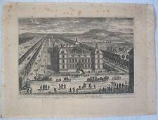 Eau-forte XVIIè : « Le Château d'Ancy le Franc »/ Perelle Graveur
