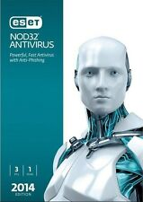 Eset NOD32 Antivirus 2014 3 Users with 1-year Updates