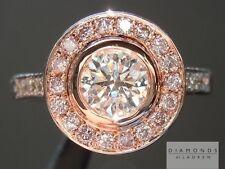 .60ct G SI2 Round Brilliant Pink Diamond Halo Ring R5612 Diamonds by Lauren
