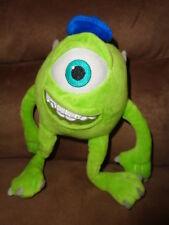 "Monsters University green Mike stuffed 9"" plush 1 eye braces blue MU Hat Disney"