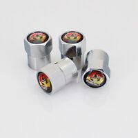 4Pcs Auto Teile Rad Reifen Staubschutz Reifenventil Kappen Logo passt für Abarth