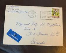 1970 Zambia Airmail Cover To Canada Mufulira Slogan Cancel