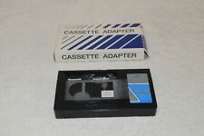 Generic VHS-C Cassette Adapter Play VHS-C Tapes in Your VCR Open Box Clean