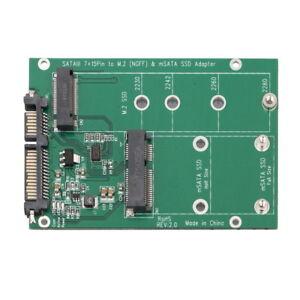 mSATA / M2 NGFF SSD to SATA Converter Adapter Combo Card M.2 2 In 1