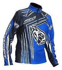 large adult Blue BLACK WHITE Wulf Sport TRAILS Shirt / Top WSX - 4