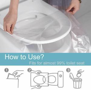 50Pcs Biodegradable Disposable Plastic Toilet Seat Cover