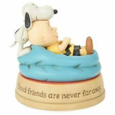 Hallmark Peanuts Good Friends Charlie Brown and Snoopy Figurine New with Box