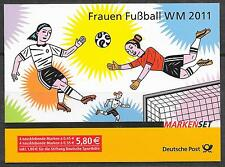 BRD/mujeres-futbol WM 2011 MiNr 2857/58 ** MH 84