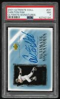 Carlton Fisk 2001 UD Ultimate Collection Signed Auto PSA 7 HOF White Sox