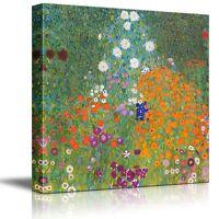 """Wall26 - """"Bauerngarten"""" by Gustav Klimt - Canvas Art Home Decor - 24x24 inches"""