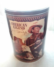 "Rare ~ John Wayne~ American Legend ~ 9 3/8"" High ~ Collectible Round Tin 2005"