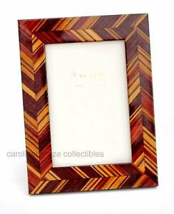 Natalini J-Louis Photo Frame Brown Wood Shades In Modern Angled Design Italy 4x6