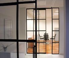 Steel casement doors - black 900 x 2050