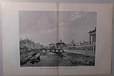 Berlin - Grosse Ansicht mit Spree - Holzstich nach C. Stöving um 1895
