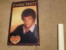 "1984 original Conway Twitty poster 35"" x 23"""