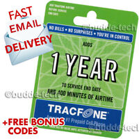 Tracfone 1 Year Plan- Includes 400 Minutes, 365 days service Fast email delivery