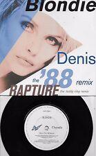 BLONDIE  Denis / Rapture (Riley Remix)  Import 45 with PicSleeve  DEBBIE HARRY