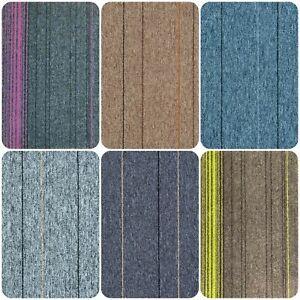 Striped Carpet Floor Tiles 20 Heavy Duty 5m² Box Home Office Commercial Retail