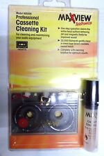 Audio Cassette tape deck head Cleaner professional brush cleaning