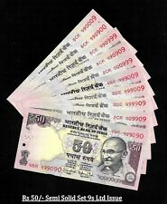 Rs 50/- India Banknote Semi SOLID TELESCOPE Ltd Issue 9s x 10 Notes GEM UNC