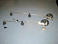 "2 Big Jon 48"" Manual Downriggers  w/ pulleys, Swivels, Counters, Releases & More"