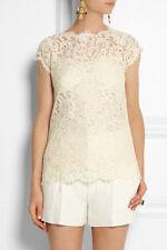 DOLCE & GABBANA Ivory/Cream Lace Top Blouse IT 40 US 2/4  UK 6/8 NWT $1.9K SALE!