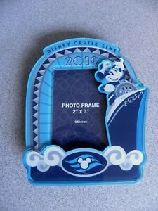 Disney Cruise Line Photo Picture Frame Magnet 2x3 Mickey Mouse Ship Blue 2019
