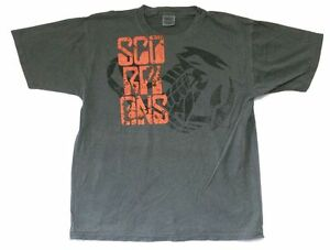 Scorpions Shoulder Logo Humanity Hour Tour Grey T Shirt New Official Kelseyville